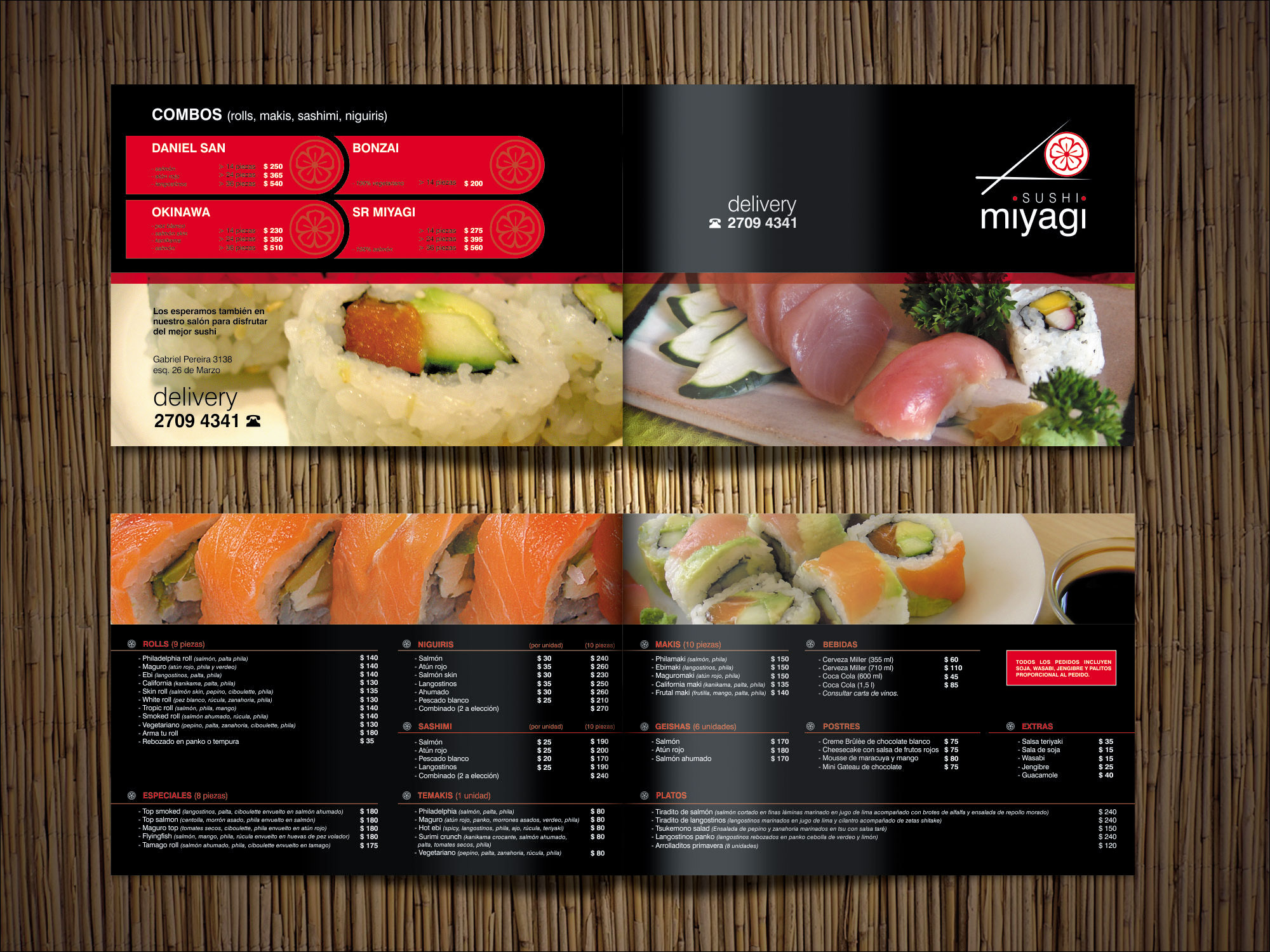 Miyagi Sushi Menú