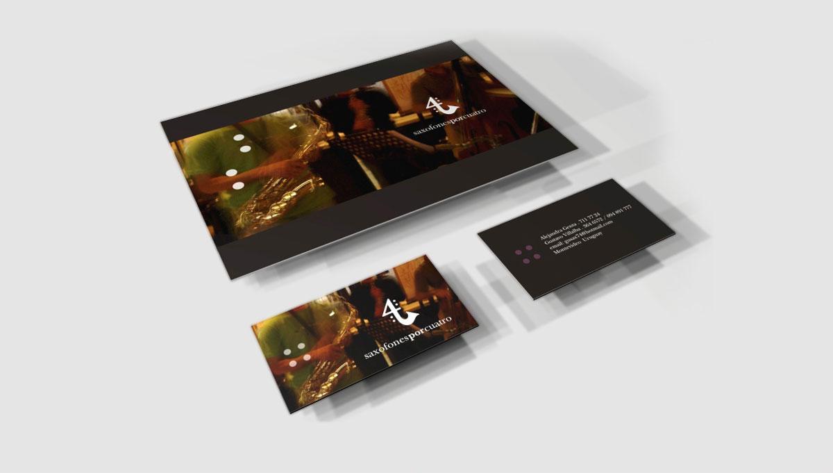 Saxofones por Cuatro - Brochure / CD